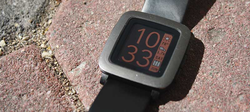 Photo of TimeStyle running on a watch